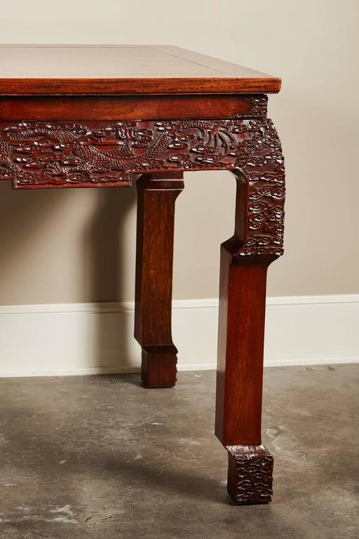19th Century Chinese Rosewood Carved Table At 1stdibs