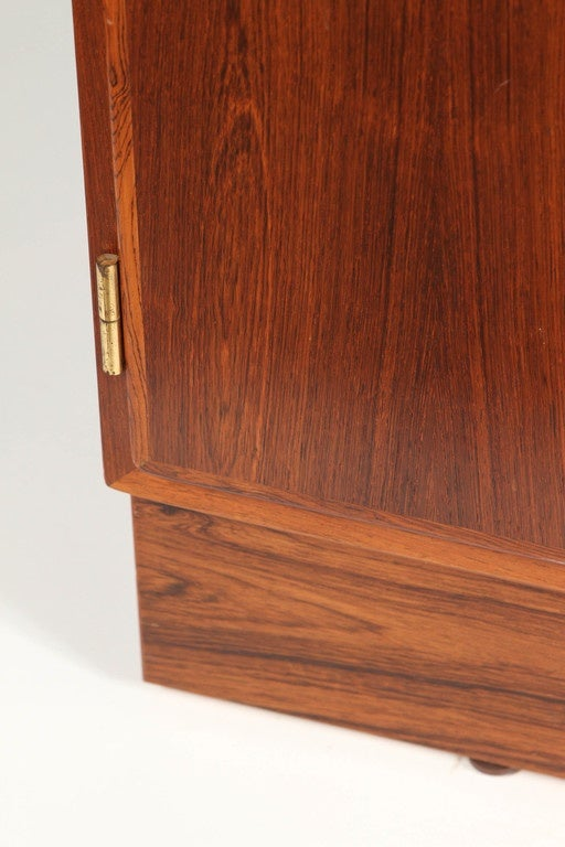 1970s Danish Palisander Rosewood Desk Unit In Good Condition For Sale In South Pasadena, CA