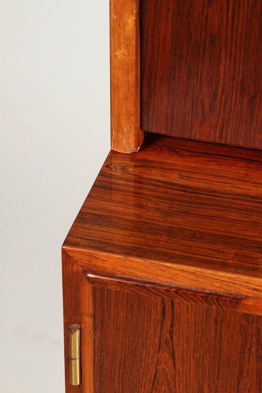 20th Century 1970s Danish Palisander Rosewood Desk Unit For Sale