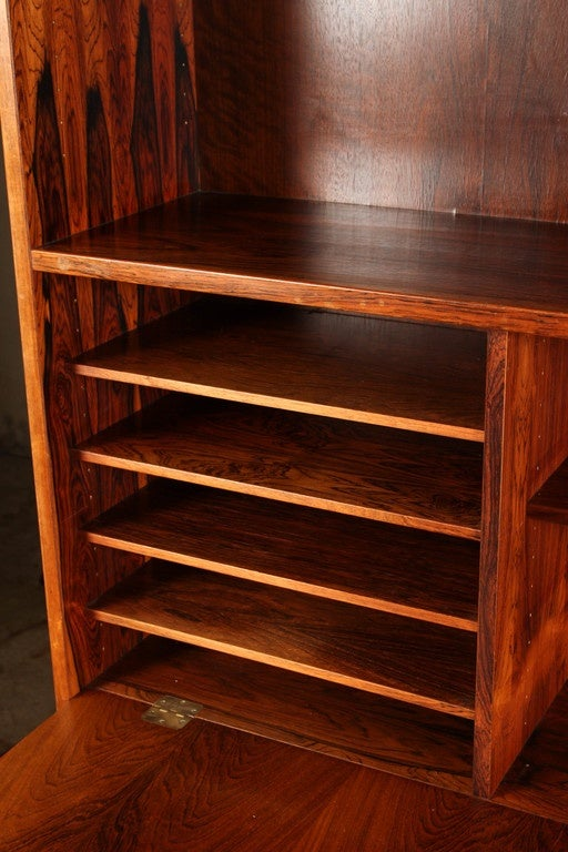 1970s Danish Palisander Rosewood Desk Unit For Sale 2