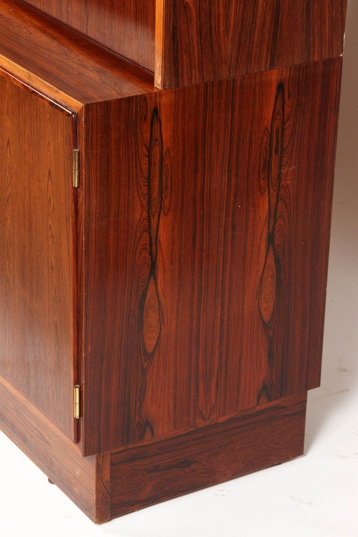 1970s Danish Palisander Rosewood Desk Unit For Sale 3