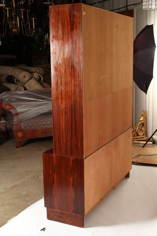 1970s Danish Palisander Rosewood Desk Unit For Sale 5