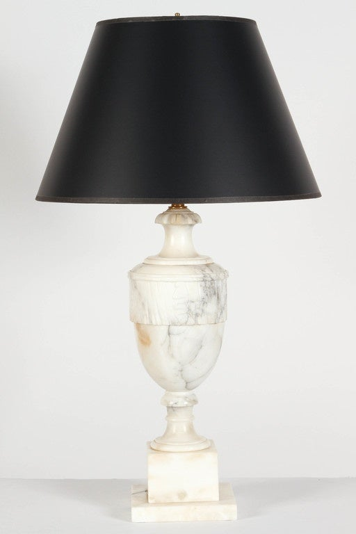 Pair Of Alabaster Lamps At 1stdibs