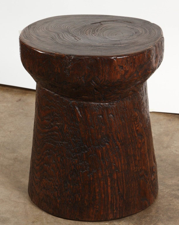 Petrified wood and teak side table for sale at stdibs