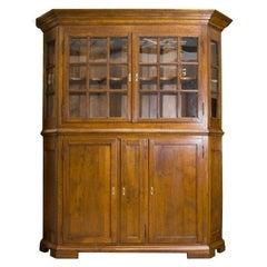 Late 17th Century Danish Baroque Oak Display Cabinet