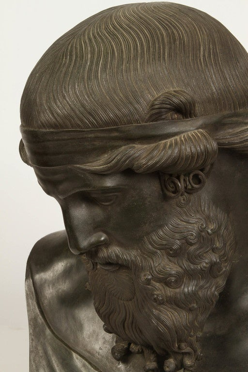 Bronze Bust Of The God Zeus At 1stdibs