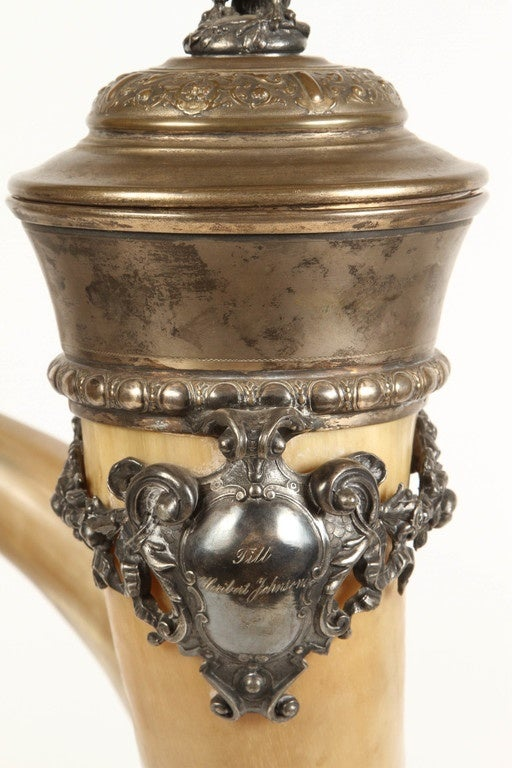 19th Century Drinking Horn For Sale 5