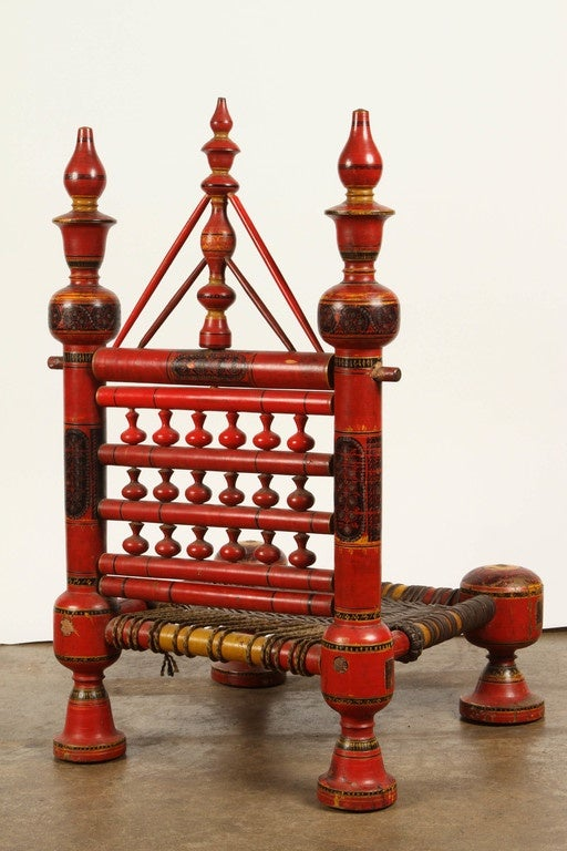 Pakistani Folk Art Painted Furniture