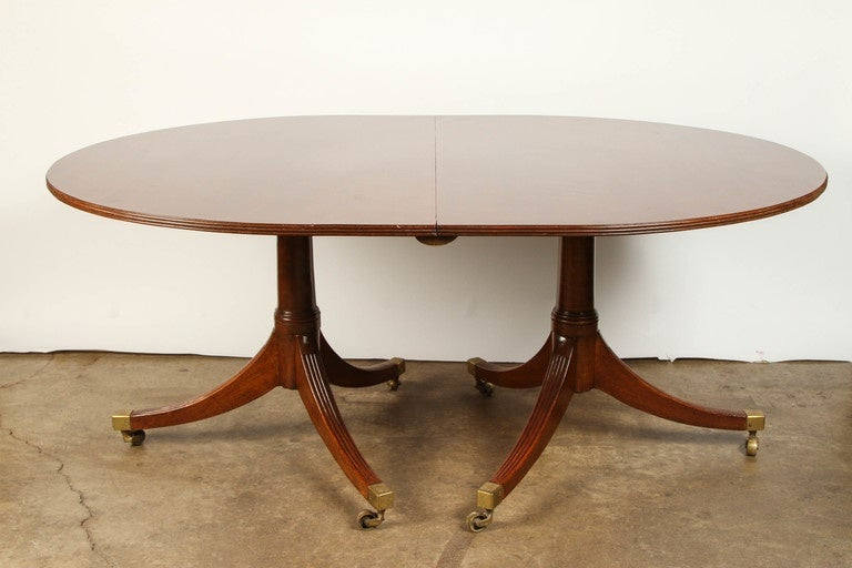 double pedestal english regency mahogany dining table at 1stdibs