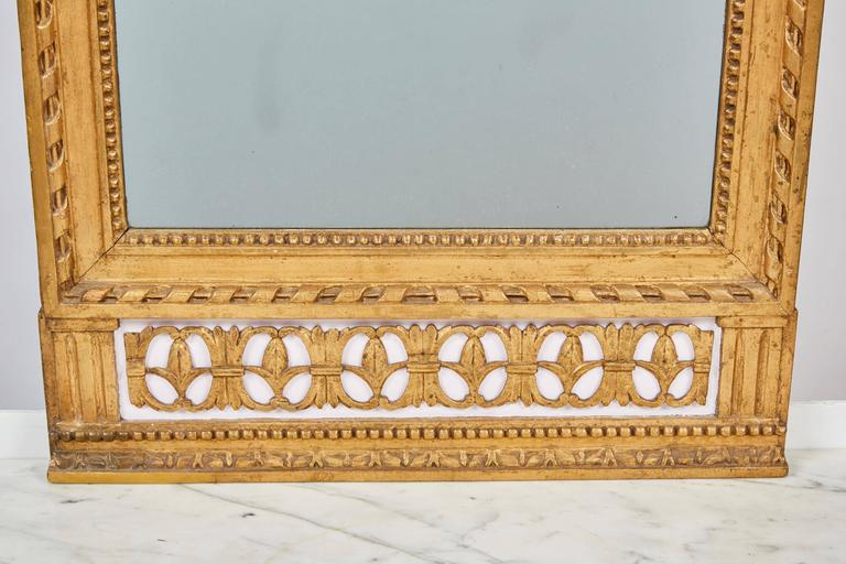 Neoclassical 1790's Swedish White Marble and Gilded Console and Mirror
