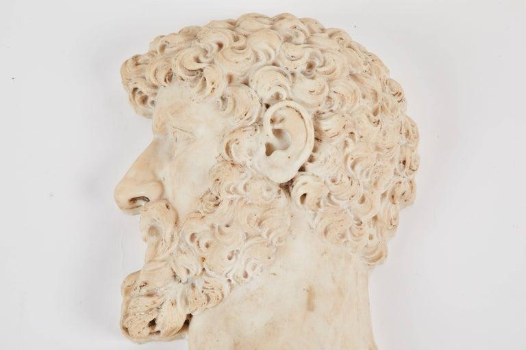 An Italian marble relief of Lucius Verus, the Roman Emperor, circa 1800.