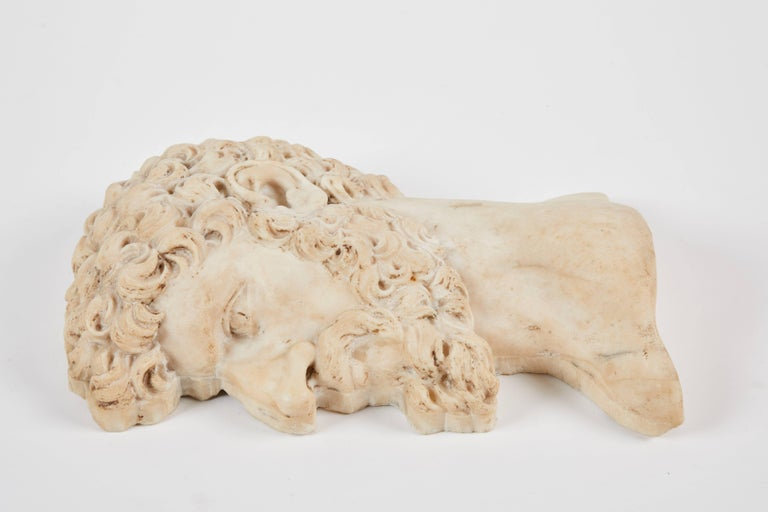 Classical Greek 19th Century Italian Marble Relief For Sale