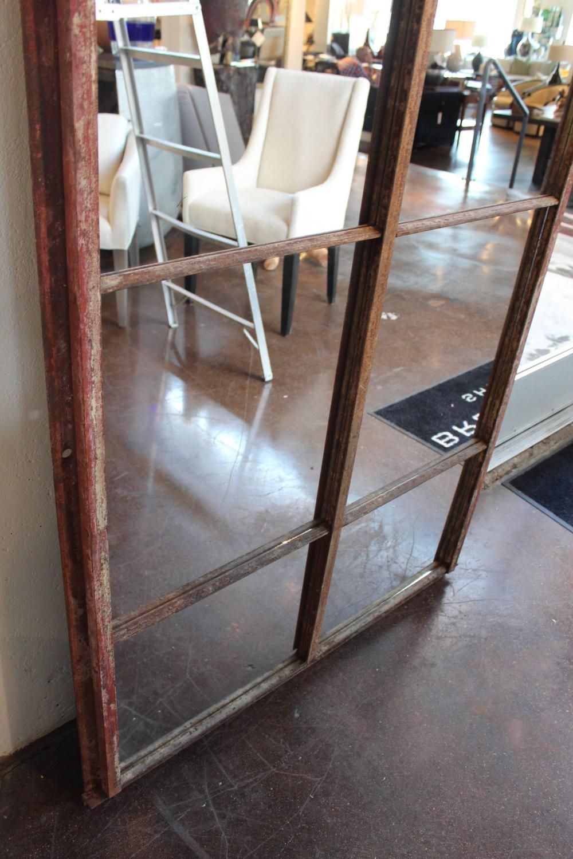 Tall arch industrial window frame floor mirrors for sale for Floor mirrors for sale