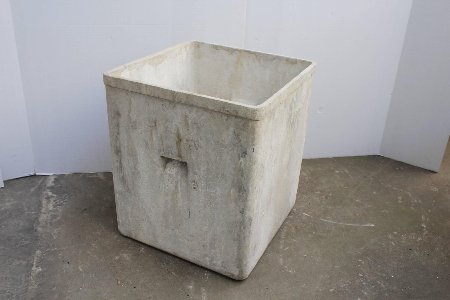 Vintage french cast cement planters for sale at 1stdibs - Casting concrete planters ...