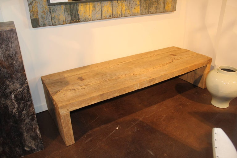 Coffee Table In The Wabi Sabi Aesthetic Made From Reclaimed Elm For Sale At 1stdibs