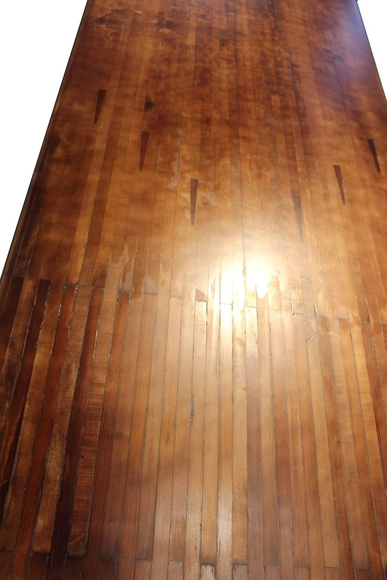 Vintage Bowling Alley Table In Excellent Condition For Sale In Dallas, TX