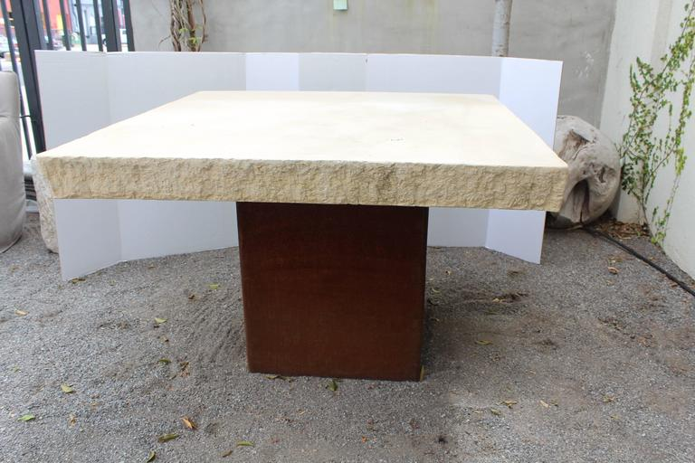 20th Century Industrial Modern Garden Dining Table For Sale