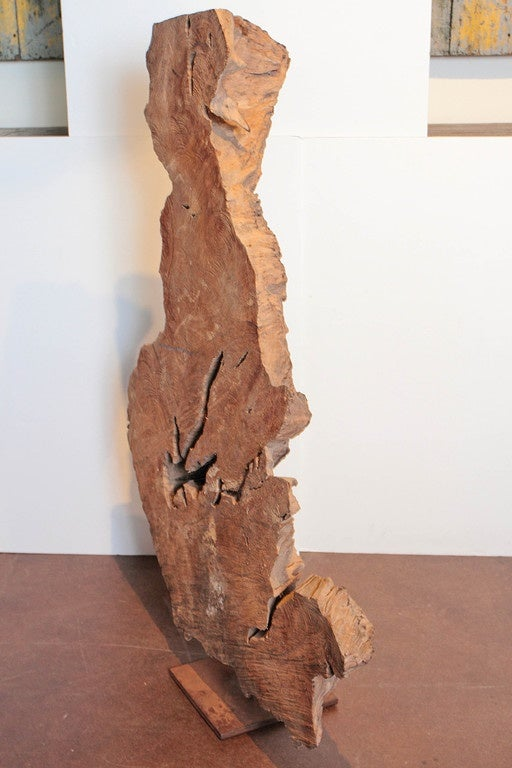 Modern Organic Abstract Wood Sculpture 50 Quot H At 1stdibs