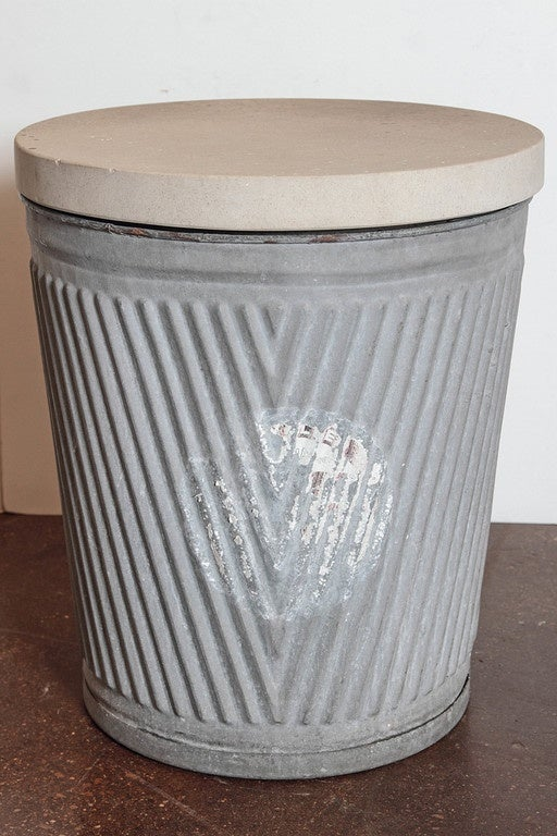 Galvanized Vintage Dolly Tub Side Table At 1stdibs