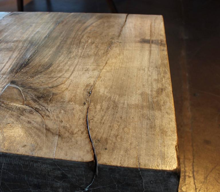 Antique Single Teak Slab Top Coffee Table At 1stdibs: Teak Slab Coffee Table At 1stdibs