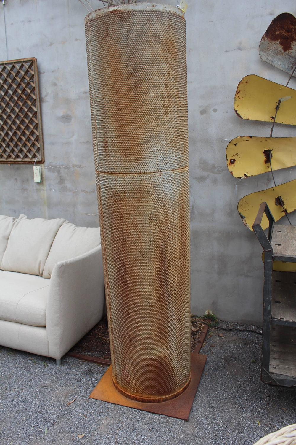 Two French Industrial Mesh Design Garden Pillars  79 U0026quot H  For Sale At 1stdibs