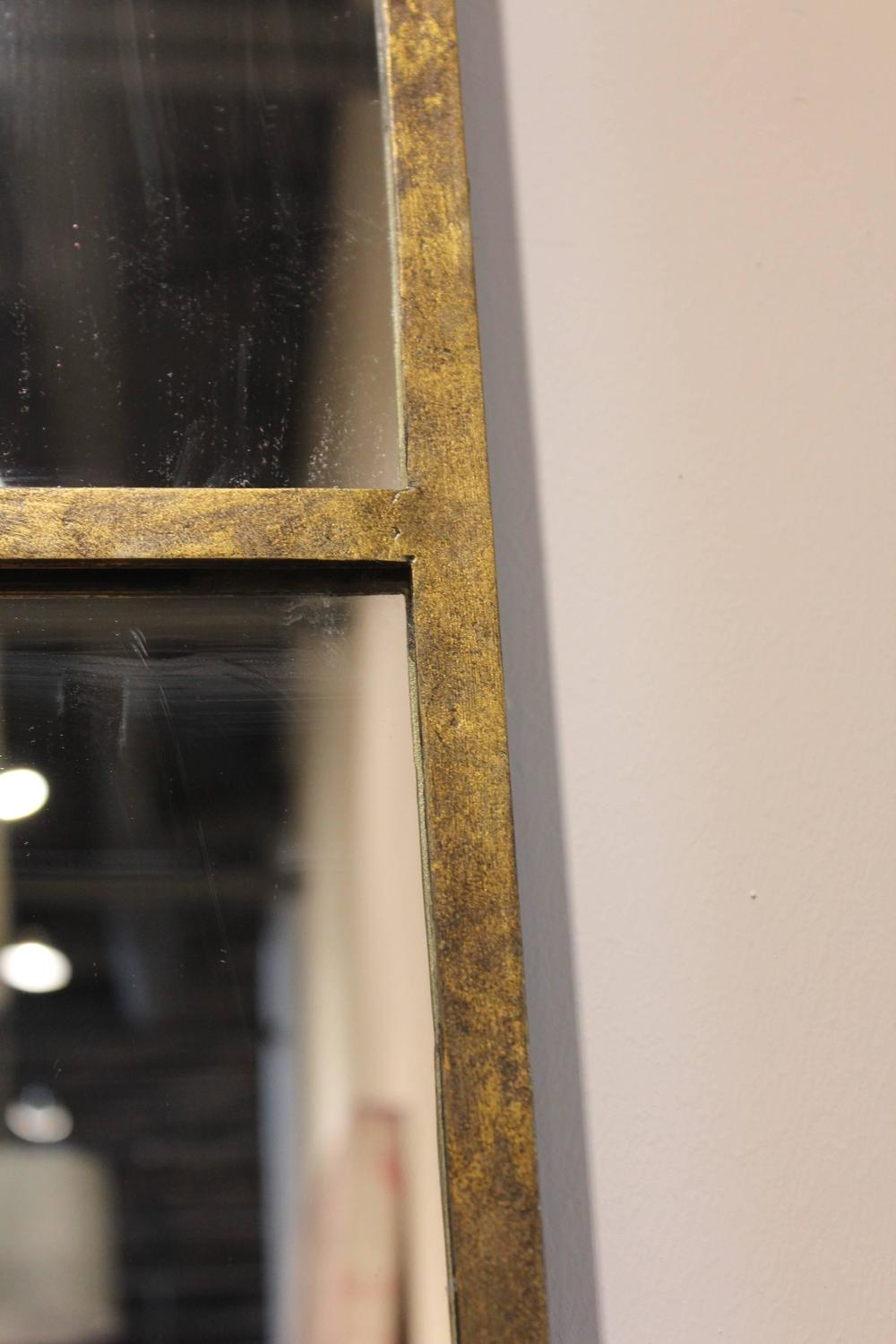 Long vertical gold wall mirror for sale at 1stdibs for Long wall mirrors for sale