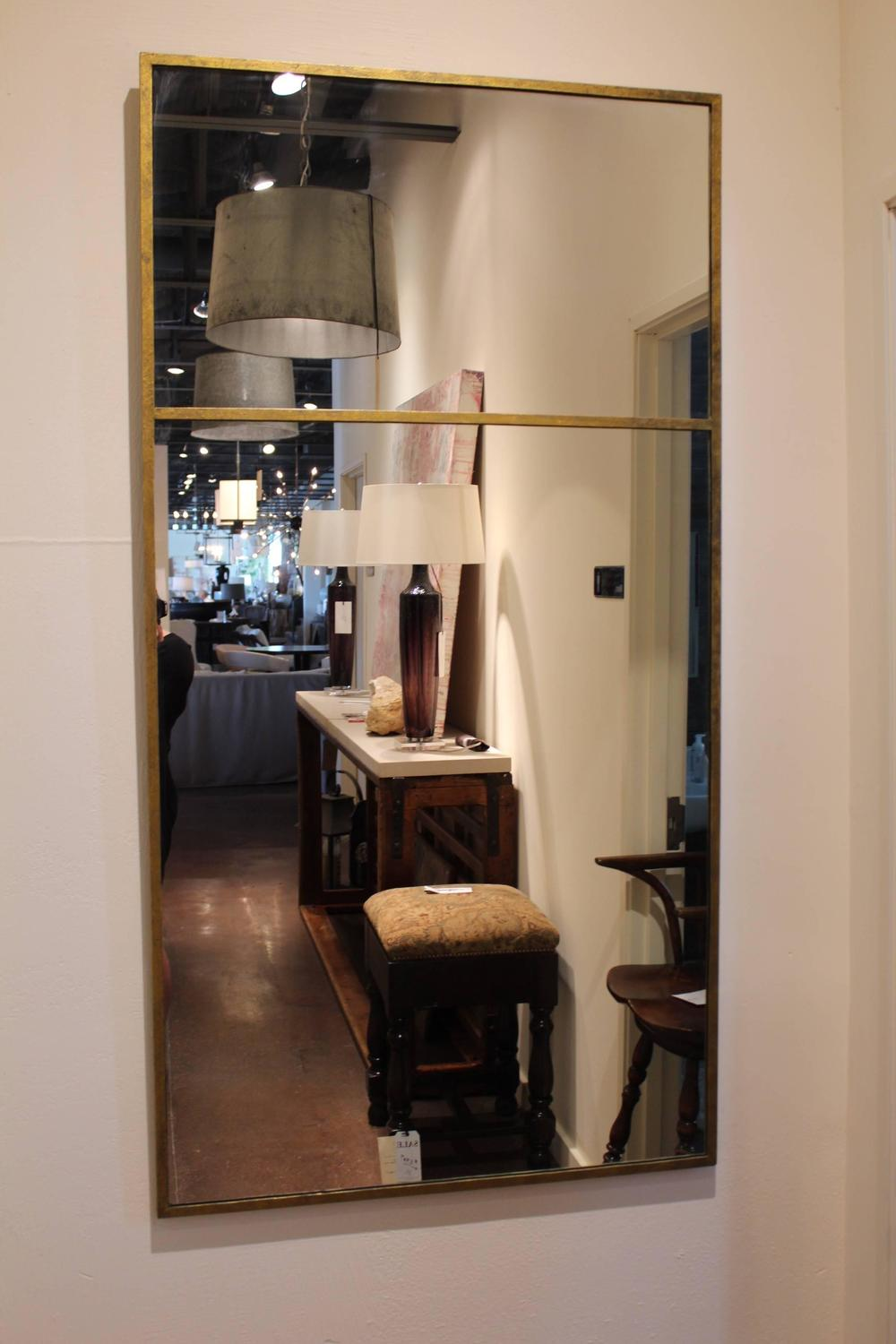 Long Vertical Gold Wall Mirror For Sale At 1stdibs