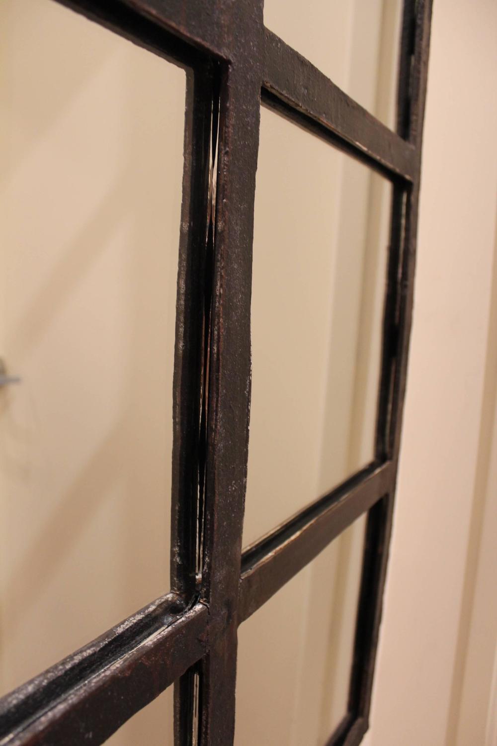 Industrial iron arch window frame mirror for sale at 1stdibs for Window mirrors for sale