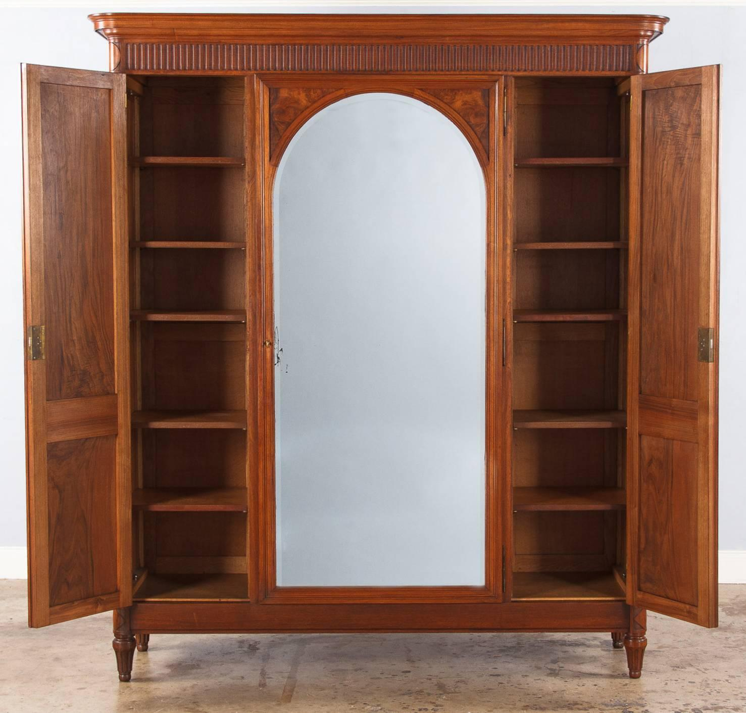 French Louis Xvi Style Walnut Armoire 1930s For Sale At 1stdibs