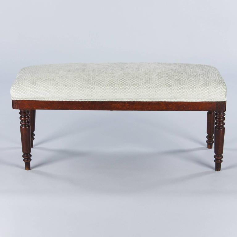 French Louis Philippe Style Upholstered Bench, Early 1900s 2