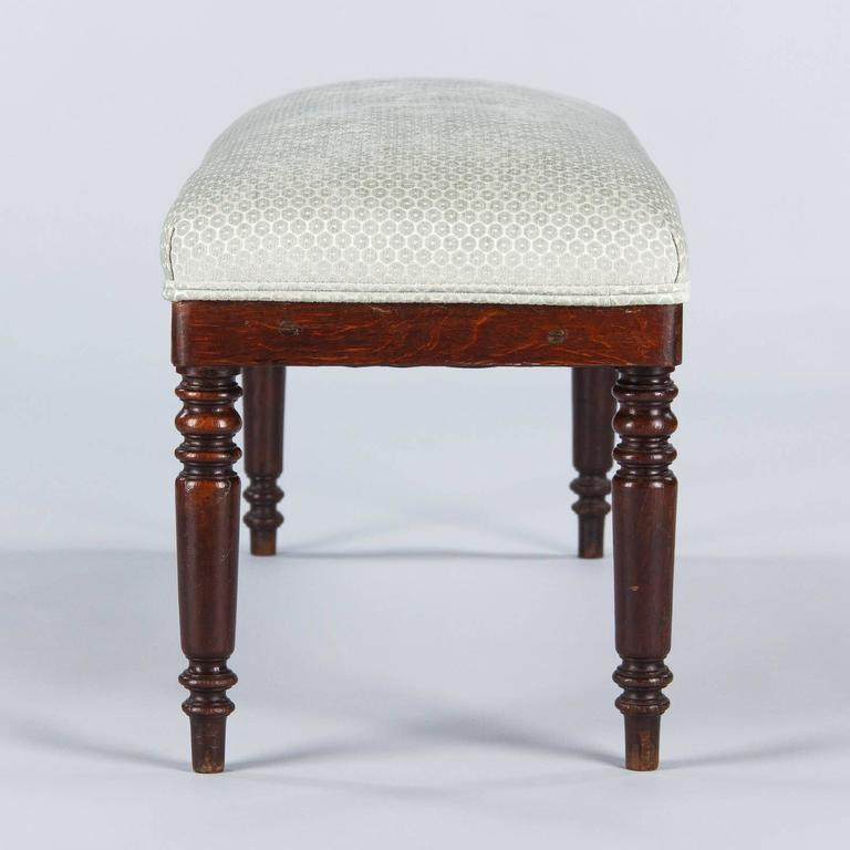 French Louis Philippe Style Upholstered Bench, Early 1900s 3
