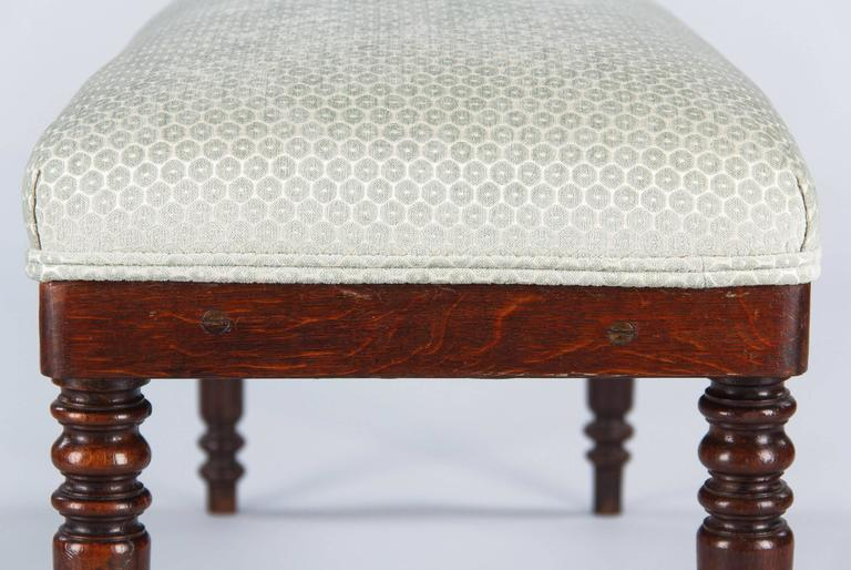 French Louis Philippe Style Upholstered Bench, Early 1900s 4