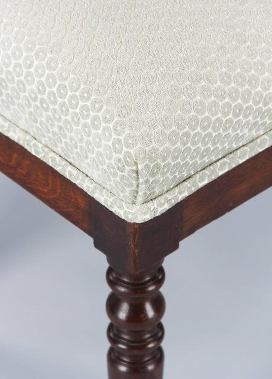 Fabric French Louis Philippe Style Upholstered Bench, Early 1900s