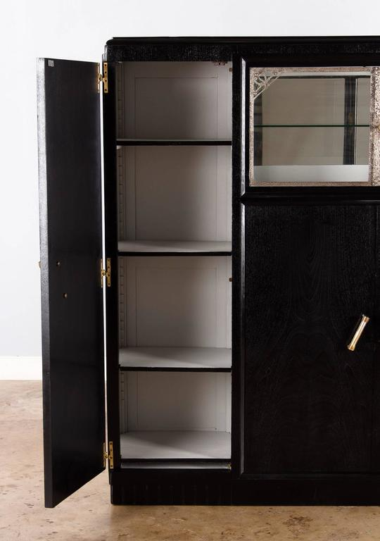 French Art Deco Cabinet Painted Black, 1930s 6