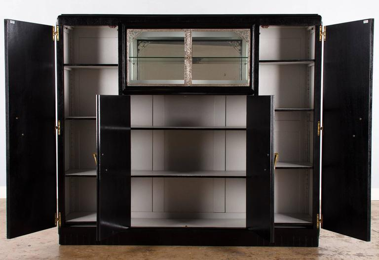 French Art Deco Cabinet Painted Black, 1930s 4