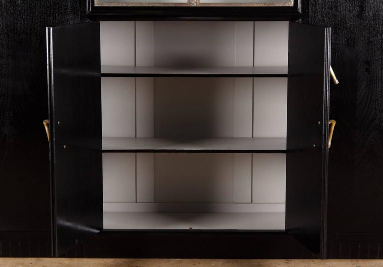 French Art Deco Armoire Painted Black, 1930s For Sale 2