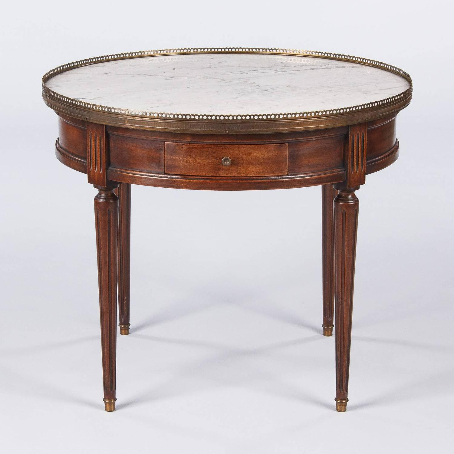 Louis Xvi Marble Coffee Table: Louis XVI Style Marble-Top Coffee Or Side Table, Early