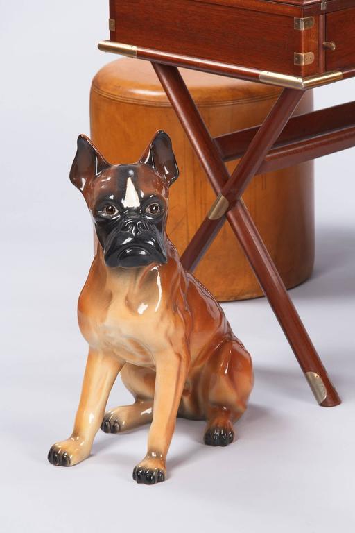 French Ceramic Boxer Figurine, 1950s 2