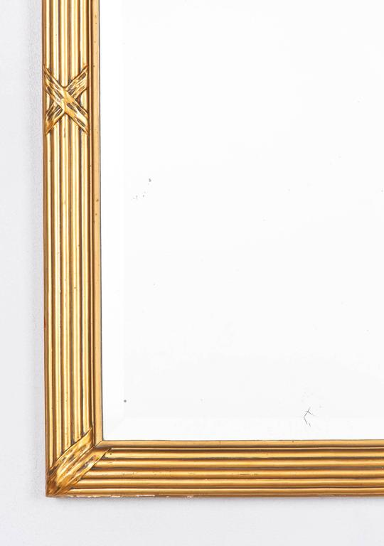 Plaster Louis XVI Style Giltwood Mirror, circa 1930s For Sale