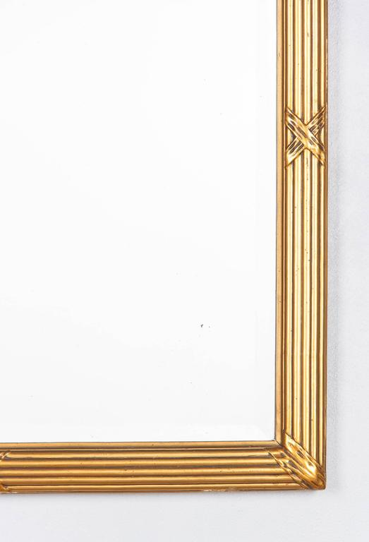Mid-20th Century Louis XVI Style Giltwood Mirror, circa 1930s For Sale