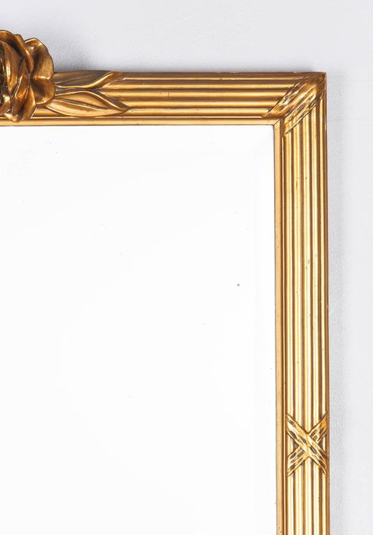 Louis XVI Style Giltwood Mirror, circa 1930s In Good Condition For Sale In Austin, TX