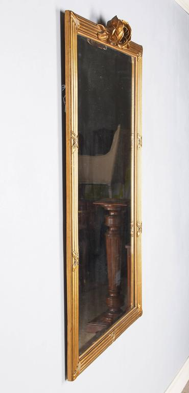 Louis XVI Style Giltwood Mirror, circa 1930s For Sale 1