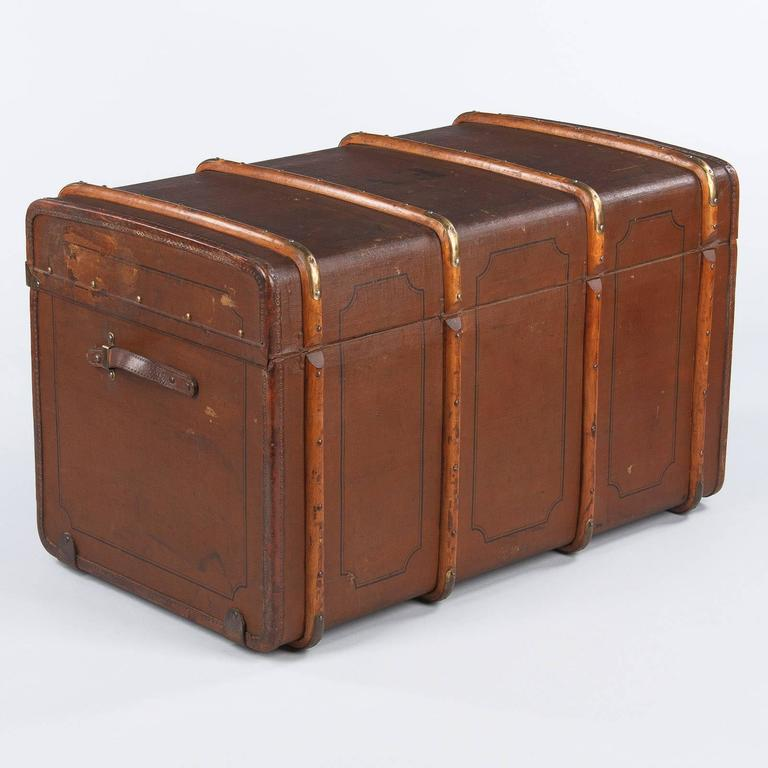 French Traveling Steamer Trunk, Early 1900s For Sale 5