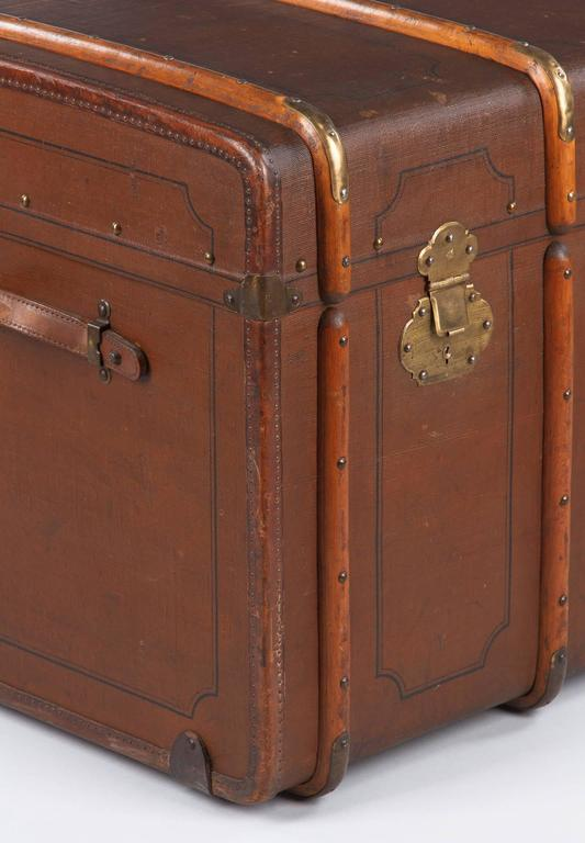 French Traveling Steamer Trunk, Early 1900s For Sale 3
