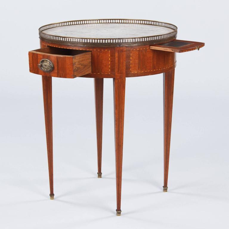 Louis Xvi Style Quot Bouillotte Quot Marble Top Table Late 1800s