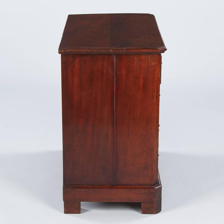 Veneer Louis Philippe Style Mahogany Chest of Drawers, Late 1800s For Sale