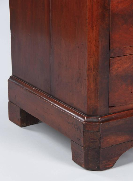 Louis Philippe Style Mahogany Chest of Drawers, Late 1800s For Sale 3