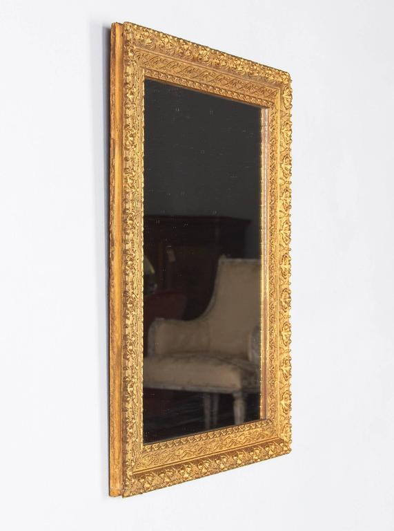 French Napoleon III Giltwood Mirror, circa 1870s For Sale 4