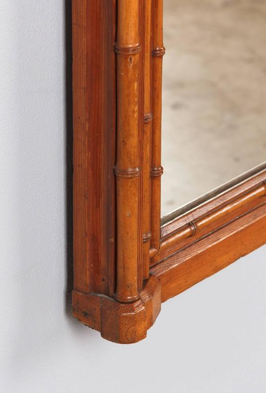 Napoleon III French Colonial Style Bamboo Mirror, Late 1800s For Sale 2