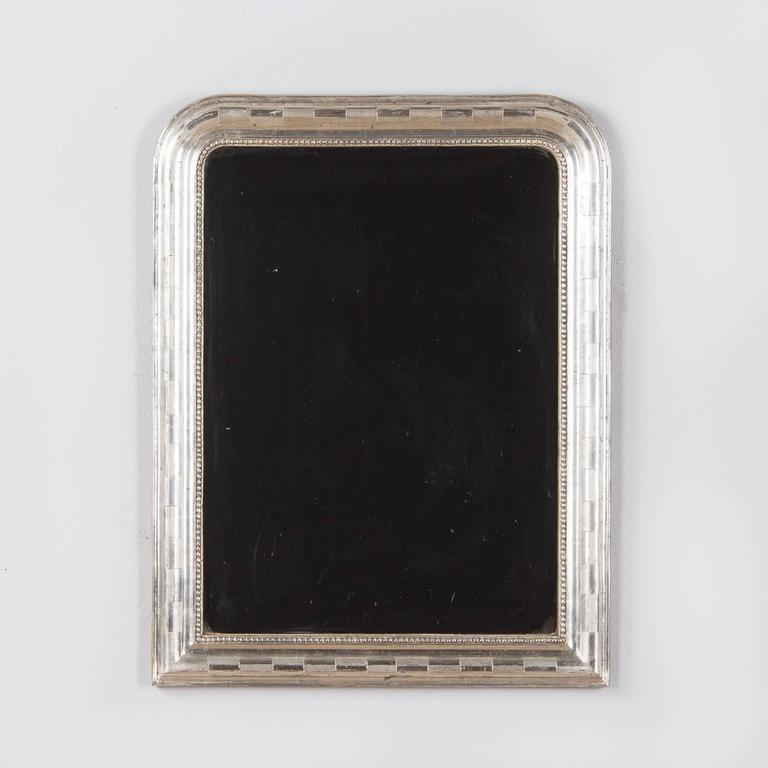 Antique French Louis Philippe Silver Gilt Mirror, 19th Century For Sale 5